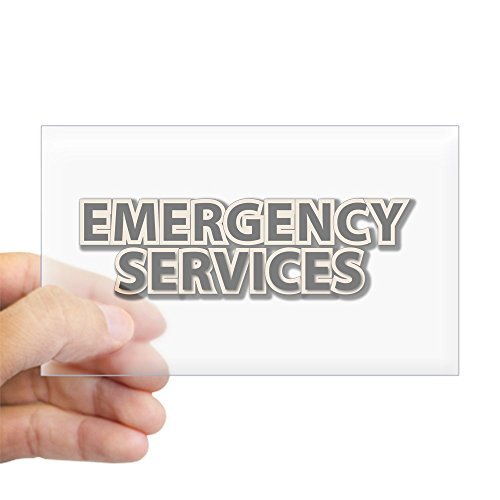 CafePress - Emergency Services - Rectangle Bumper Sticker Car Decal (Emergency Services Decals)