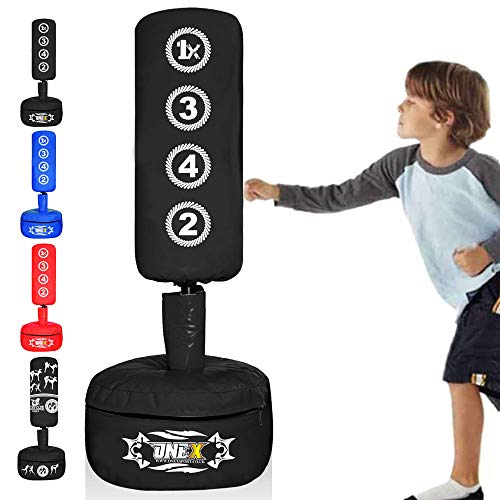ONEX Free Standing Boxing Punching Bag Stand For Kids Target Heavy Duty Punch Bags Kickboxing MMA Martial Arts Sports Pads Dummy Gym Equipment for Home (Black M1)
