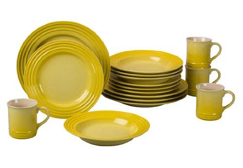 Le Creuset Stoneware 16-Piece Dinnerware Set, Soleil