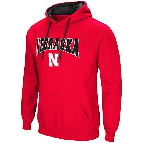 -Cold Streak-Hoody Pullover Sweatshirt with Tackle Twill-Nebraska Cornhuskers-Scarlet-XXL ()