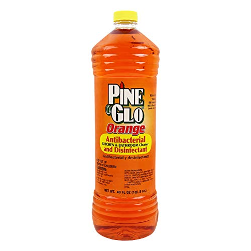 Pine Glo Antibacterial and Disinfectant Cleaner, Hospital Grade and EPA Registered. Orange Scent 40 Fl oz Bottle