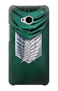 S1928 Attack on Titan Scouting Legion Rivaille Green Cloak Case Cover For HTC ONE M7