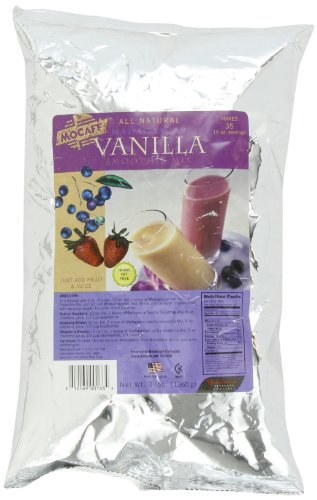 - MOCAFE Madagascar Vanilla Smoothie Mix, 3-Pound Bag Instant Frappe Mix, Coffee House Style Blended Drink Used in Coffee Shops