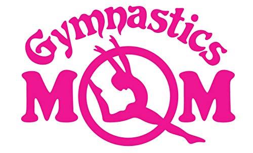 CRDesign Gymnastics Mom Pink Decal Sticker for Car Truck SUV Bumper Window