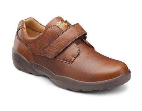 Dr. Comfort William Men's Therapeutic Diabetic Extra Depth Dress Shoe leather velcro - Chestnut 12.0 X-Wide (3E/4E) US Men
