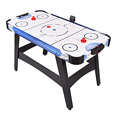 """Goplus 54"""" Air Powered Hockey Table Indoor Sports Game Room Electronic Scoring For Kids"""
