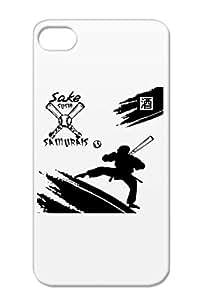 Sake Sushi Samurais TPU Black For Iphone 4s Baseball Sports Protective Hard Case
