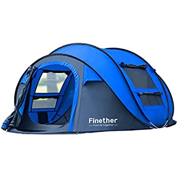 Amazon Com Finether Instant Pop Up Tent 3 Person Family