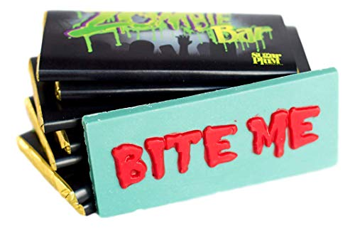 Zombie White Chocolate Bars -Gourmet Chocolate - Zombie Chocolate Gift For All Occasions, Pack of 4, by Sugar Plum Chocolates