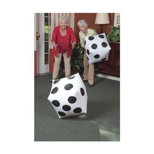S&S Worldwide 17750 Jumbo Inflatable Dice (Pair), (Pack of 2) (Giant Dice)