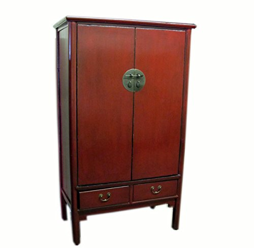 Red Lacquer Antique Noodle Cabinet by Antique Chinese Cabinet