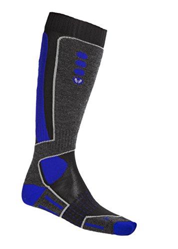 Hyra has007, Calcetines de Esquí para Hombre Multicolor (Noir/Bleu)