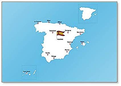 Amazon.com: Map Of Spain With Major Cities - Clic Fridge ... on spain map regions and cities, map of atlantic ocean cities, spain major cities, map of democratic republic of congo cities, map of ussr cities, map of oceania cities, map of latin america cities, map of niger cities, map of the us cities, map of the carolinas cities, pamplona spain map cities, map of palau cities, map of new brunswick canada cities, map of mexican riviera cities, map of guyana cities, map of burundi cities, map of s korea cities, map of kosovo cities, map of islam cities, map europe cities,