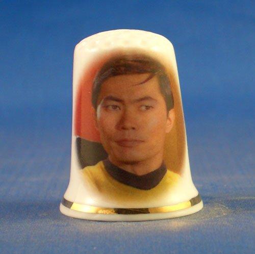 birchcroft Porzellan China Fingerhut zum Sammeln Star Trek Sulu