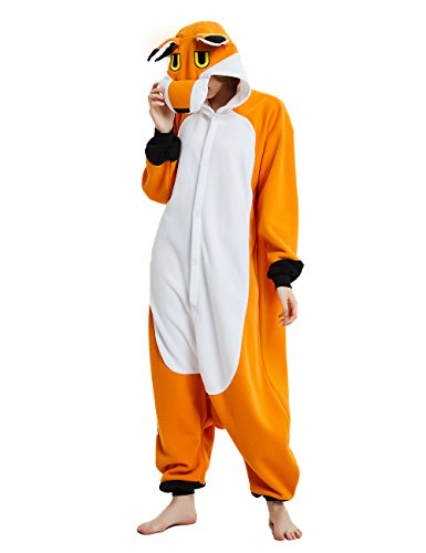 ifboxs Adult Animal Onesies Pajamas Fox Cosplay Costume for Women(Large,Orange)