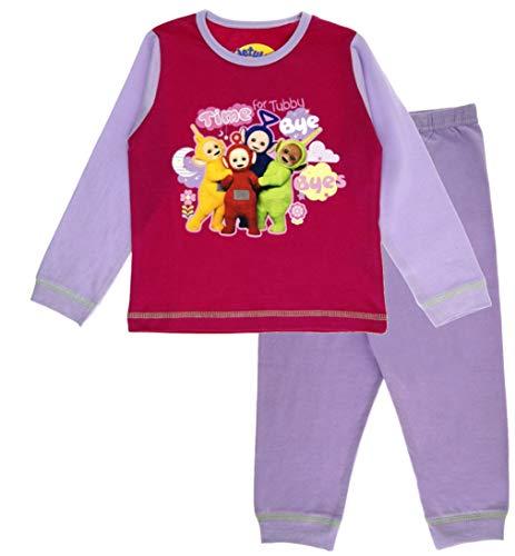 Girls Teletubbies Long Pyjamas 3-4 Years Pink ()