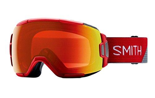 Smith Optics Adult Vice Snow Goggles Fire Split Frame/ChromaPop Everyday Red - Goggles Rimless