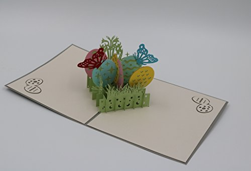 Handmade 3D Pop Up Happy Easter Greeting Cards (Easter Egg) Photo #3