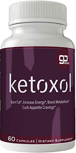 Ketoxol Natural Ketogenic Weight Loss Pills, BHB Burn Fat Supplement, 800 mg Formula with New True Slim GO BHB Salts Formula, Advanced Appetite Suppressant Capsules