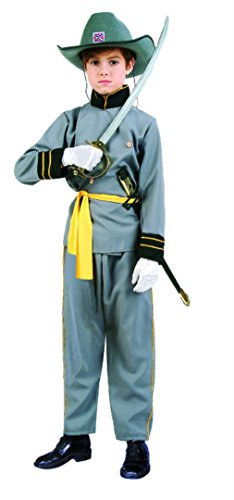 Confederate Soldier Costume Child (OvedcRay Confederate Officer Child Costume Civil War Soldier Boy Uniform Kids Grey)
