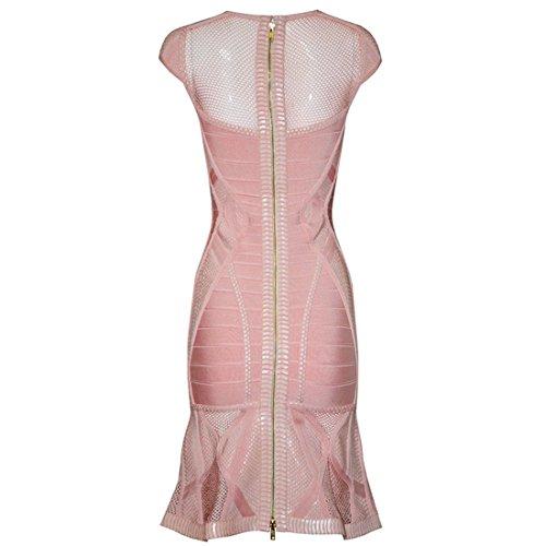Grau Kleid Rosa HLBCBG Rosa Damen Pink tvRxOOwq