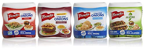 French's Crunchy Toppers Variety Pack, Certified Kosher, Made in the USA, 5-6 oz (Pack of 4)