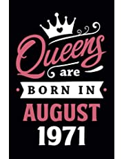 50th Birthday Gifts for Women: Queens Are Born in July 1971: Funny Notebook for Women's, 50th Birthday Notebook for Women, Gift for Women Birthday Unique, Friendship Gifts for Women Friends Personalized .… Notebook Journals (Notebook a5 Lined)
