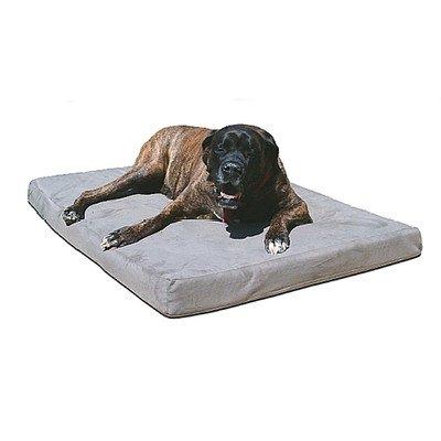 """Original Max Comfort Biomedic Memory Foam Dog Bed. 4"""" Medium 40"""" x 26"""" Orange Microfibre"""
