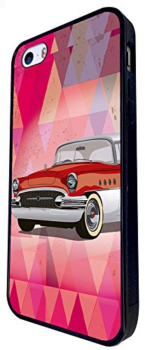 903 - Vintage Cars Vintage Pimp Car Design iphone SE - 2016 Coque Fashion Trend Case Coque Protection Cover plastique et métal - Noir