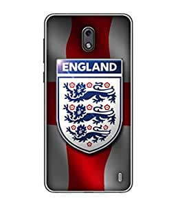 ColorKing Football England 15 Multi Color shell case cover for Nokia 2