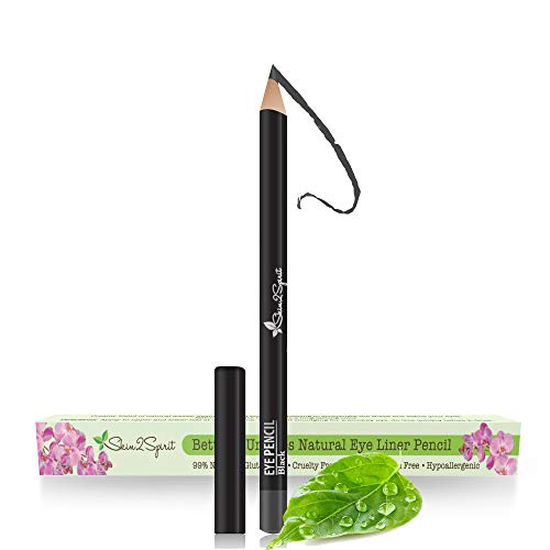 Better'n Ur Eyes Natural Eyeliner Pencil: BLACK | Hypoallergenic & Great for Sensitive Eyes | Natural | Vegan | Certified Cruelty Free | Paraben Free | Gluten Free | Smooth Application | Long Lasting