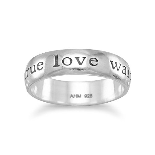 Sterling Silver Message Ring - 6