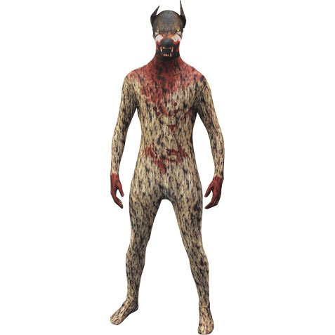 Morphsuits Morphsuit Premium Werewolf, Brown/Red, -