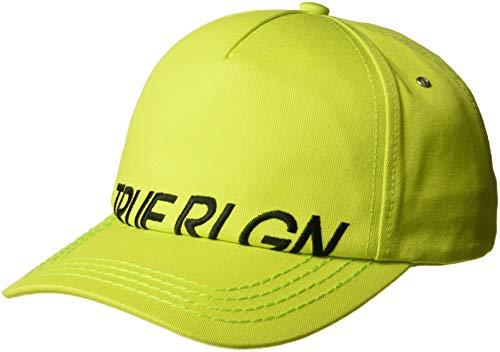 (True Religion Men's Partial Name Logo Ball Cap, Cyber Green, OSFA)