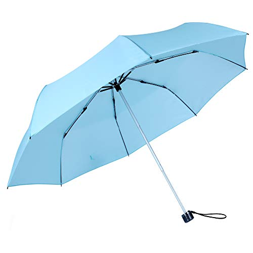 Kobold Compact Sun&Rain Travel Umbrella - Lightweight Portable Outdoor Umbrella with UV Protection ()