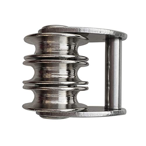 Baosity Premium 316 Stainless Steel Sail Tack Triple Pulley for Windsurfing Sails