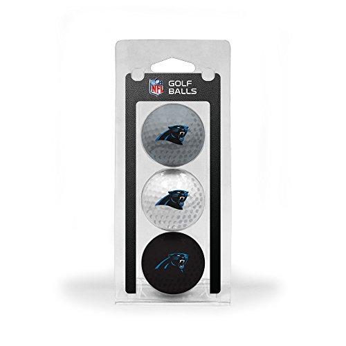(Team Golf NFL Carolina Panthers Regulation Size Golf Balls, 3 Pack, Full Color Durable Team Imprint)