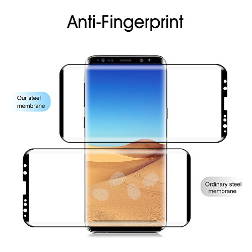 Galaxy S9 Screen Protector Tempered Glass, [Update Version]OTAO 3D Curved Dot Matrix [Full Screen Coverage] Samsung Galaxy S9 Screen Protector(5.8'') with Installation Tray [Case Friendly] by OTAO (Image #3)