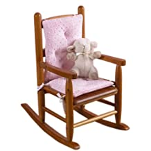 BabyDoll Bedding Heavenly Soft Child Rocking Chair Cushion Pad Set, Pink