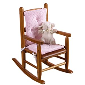 Baby Doll Bedding Heavenly Soft Child Rocking Chair Cushion Pad Set, Pink(Chair is not Included with The Product)