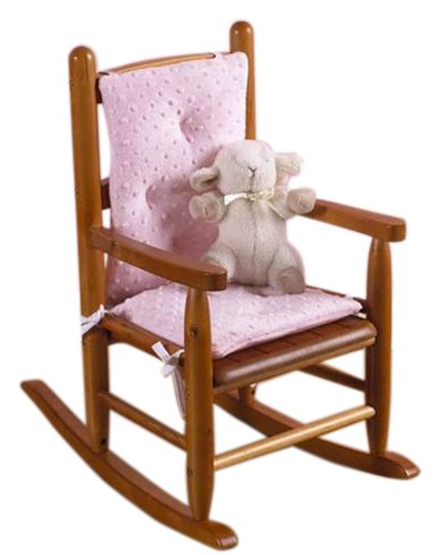 (Baby Doll Bedding Heavenly Soft CHILD Rocking Chair Cushion Pad Set, pink(Chair is not included with the product))