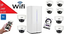 LTS 8 Channel Wifi NVR and (8) 2.1 MP Mini WiFi Dome IP Camera Kit, With Pre-installed 1TB HDD