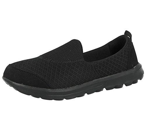 pompe Ella Flexi Ladies nbsp; scarpe 3 foam comfort ballerine slip on mesh misura go memory Rdqgna0