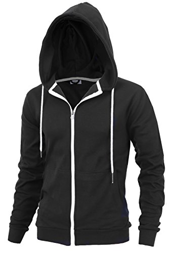 %22DELIGHT%22+Men%27s+Fashion+Fit+Full-zip+HOODIE+with+Inner+Cell+Phone+Pocket+%28US+X-LARGE%2C+BLACK%29