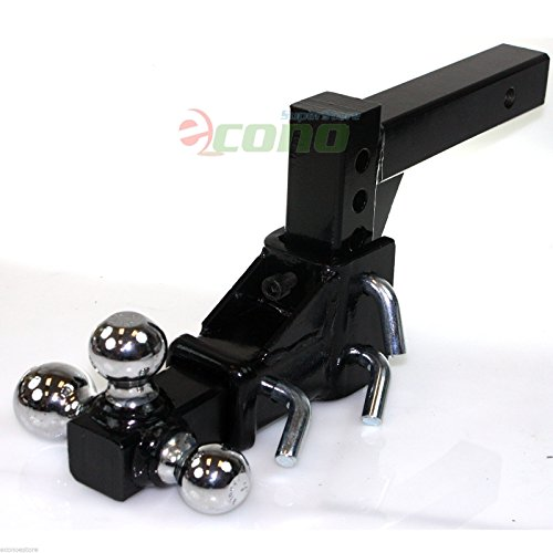 3 Ball Adjustable Vertical Travel Solid Raise Drop Tri-Ball Tow Hitch Mount 2'' by I_S Import