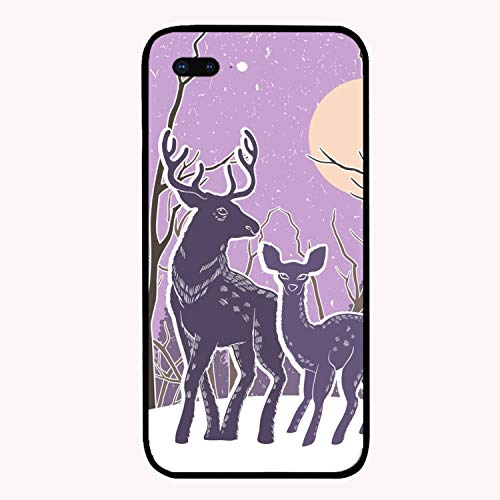 iPhone 7 Plus Case/iPhone 8 Plus Case, Christmas with Reindeer and Snowy Slim-Fit Anti-Scratch Shock Proof Anti-Finger Print Case for iPhone 7/8 Plus for $<!--$3.78-->