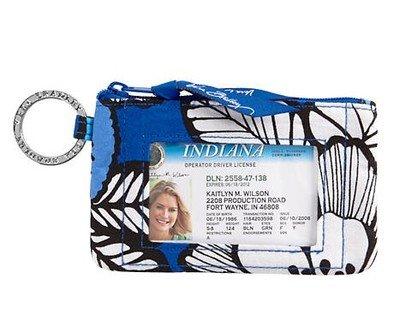 Vera Bradley Zip ID Card Case (Blue Bayou)