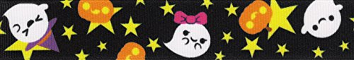 Country Brook Design 5/8 Inch Delightful Haunt Grosgrain Ribbon Closeout, 5 Yards -