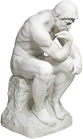 Amazon.com : Design Toscano KY1335 Rodin's Thinker Man Statue, Estate, 25  Inch, Polyresin, Antique Stone : Outdoor Statues : Garden & Outdoor