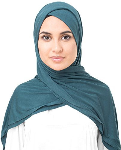 InEssence Stargazer Blue Viscose Jersey Scarf Women Girls Wrap Large Size Hijab